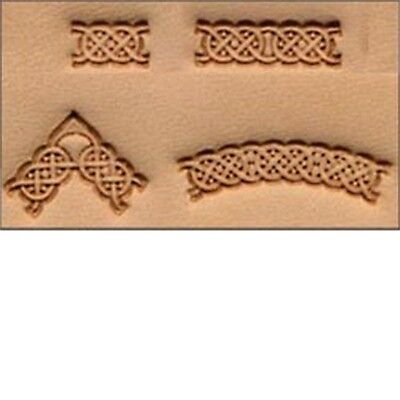 4 Piece Celtic Leather Stamp Set - Craftool 3d Stamping Leathercraft