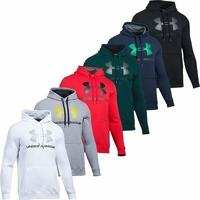 Under Armour 2017 Coldgear Rival Fitted Graphic Hoody Mens Sports Hoodie