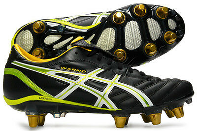 Asics Lethal Warno ST Black Eucalyptus White Rugby Boots Size UK 10 & 11