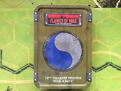 "Flames of War Gale Force 9 - 29th Infantry Div ""Blue & Gray"" Dice & Tokens Set"