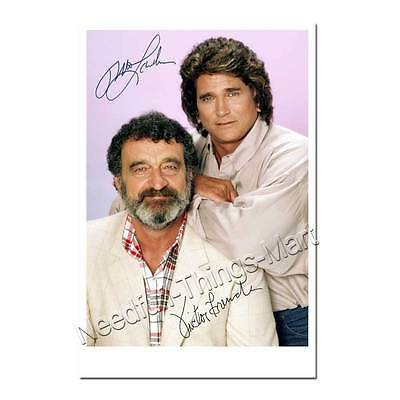 Michael Landon & Victor French in Ein Engel auf Erden -  Autogrammfoto [AK2] 