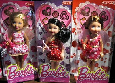 Barbie Valentine 2014 Kelly / Chelsea Friends Complete set of 3 NEW