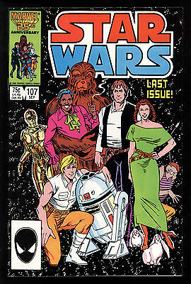 Star Wars (1977) #107 1st Print SCARCE Last Issue Jo Duffy Cynthia Martin VF