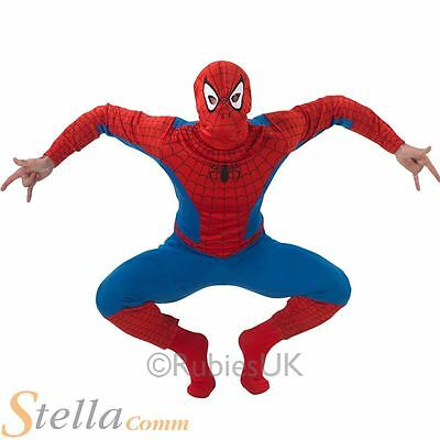 Mens Spiderman Fancy Dress Costume Avengers Superhero Halloween Adult Outfit