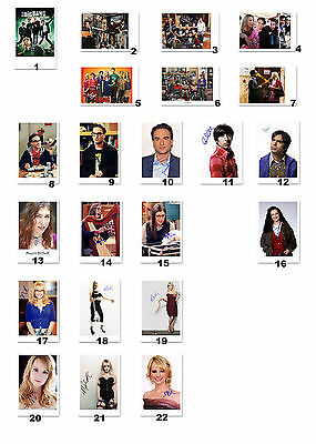 The Big Bang Theory - Cast (Johnny, Jim, Kaley, Simon) - Autogrammfoto Auswahl