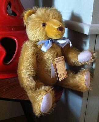"HERMANN MOHAIR JOINTED TEDDY WITH TAGS 33cn/13"" Limited edition 776/2000"