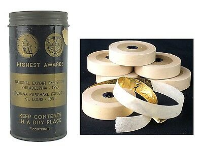 VTG Coe's Louisiana Purchase Expo 1904 Ribbon Real Gold Leaf XXD 6 Rolls 3/8""