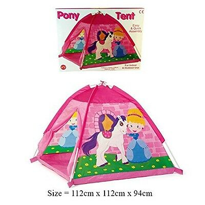 A To Z Pony Dome Play Tent - Kids New Indoor Up Outdoor Pop House Childrens