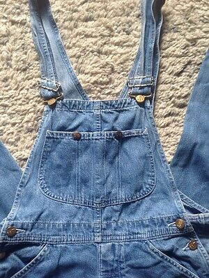 Vintage Lee Dungarees, Light Blue Denim, Long Leg Overalls, Americana Dungarees