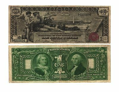 1896 $1.00 Educational Note Lg. Size United States Silver Certificate Fr#224