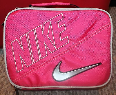 New! Girls Sporty  Nike Lunch Box/Bag - Insulated/Zippered - Pink/Silver