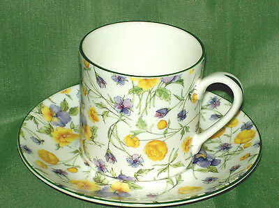 English Bone China~EMILY CHINTZ  ~Espresso/After dinner Cup&Saucer