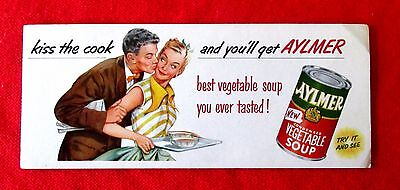 Kiss the Cook Aylmer Soup Ink Blotter msu3