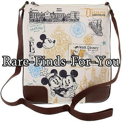 Disney Parks Vintage Icons Mickey Minnie Mouse More Crossbody Shoulder Bag (NEW)