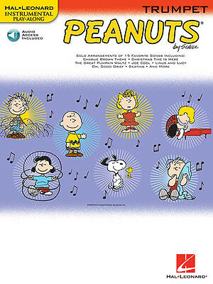 Peanuts for Trumpet Solo Sheet Music 15 Kids Songs Play-Along Book Online Audio