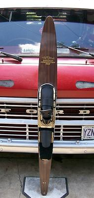 """Vintage Taperflex Concave Competition Mf 66"""" Water Ski W/ Gold Formulast Boots"""