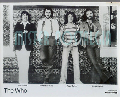 Vintage Photo  The Who 1970's MCA Records Publicity photo Keith Moon