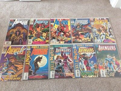 Marvel Comics The Avengers X10 Run 371 372 373 375 376 377 379 280 381 382