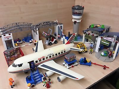 Huge Playmobile Airport Bundle 4310 4311 4313 4314 4315 & More! Job Lot