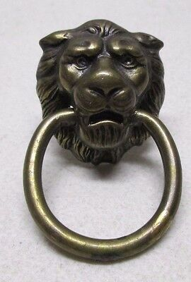 Vintage Retro Lion Head Brass Drawer Door Knocker Pull Knob Handle