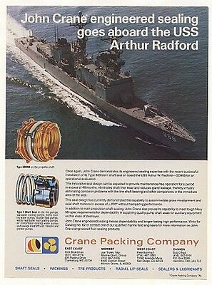 1978 USS Arthur Radford Ship Crane Shaft Seals Photo Ad
