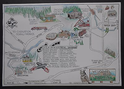 Twin Peaks Film Sites Map From 1992