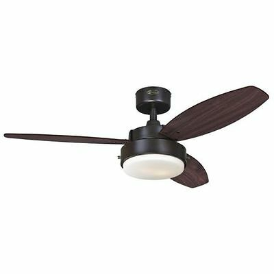 """Westinghouse 7201900 Alloy 42"""" 3 Blade Hanging Indoor Ceiling Fan with Reversibl"""