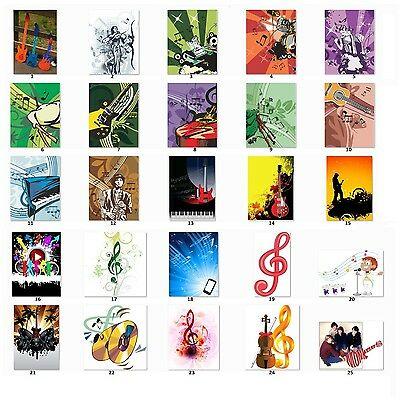 Personalized Return Address labels Music Music Notes Buy 3 get 1 free {m5}