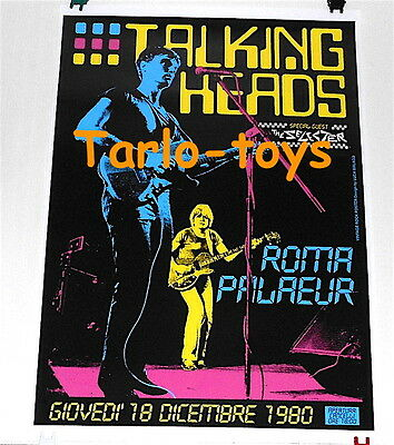 TALKING HEADS - Roma, Italy 18 december 1980 - concert poster