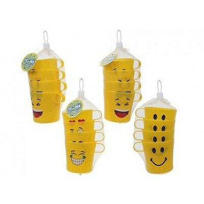 "Yellow ""emoji"" Kids Beakers"