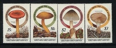 Grenada-Grenadines MNH Sc 762-65 Mushrooms Value $ 15,10  US $$