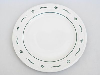 """Longaberger Woven Traditions Green 10"""" Dinner Plate"""