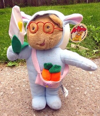 ARTHUR beat-up doll Easter Rabbit costume PBS aardvark Marc Brown plush toy 2000