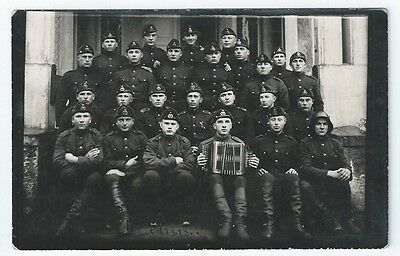 ESTONIA Army Group Photo RP Postcard + Troop Signatures LITHUANIA Soldier 1920s?