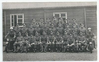 Military Police MPs Group Photo Gloves Goggles Motorbikes PC-sized RP Card