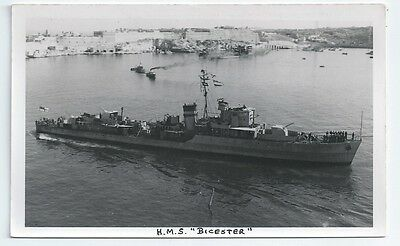 HMS BICESTER Hunt class Destroyer Royal Navy PC-size RP Card