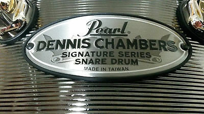 2016 Pearl Dennis Chambers 5x14 Aluminum Snare Drum 12 top lugs, 8 bottom lugs
