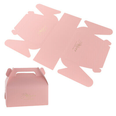 20pcs Love Cake Boxes with Handle Wedding Birthday Xmas Cheesecake Carrier Boxes