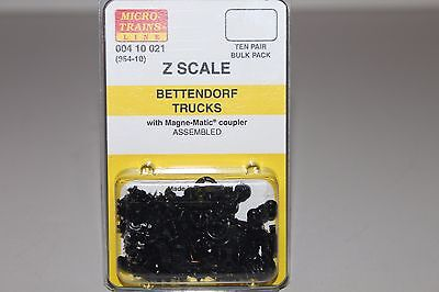 Z Scale MTL 004 10 021 10 Pair Bulk Pack Bettendorf Trucks