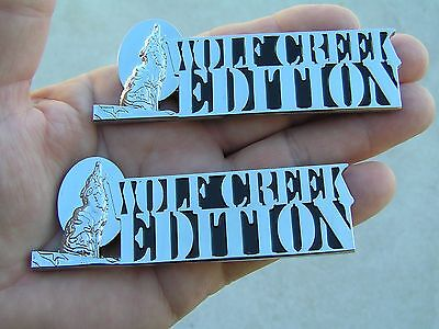 WOLF CREEK EDITION PAIR Chrome CAR BADGE Metal Fender Emblem NEW suit FALCON UTE
