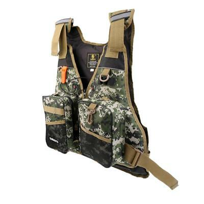 Universal Kayak Canoe Sailing Fishing Life Jacket Buoyancy Aid Forest Camo