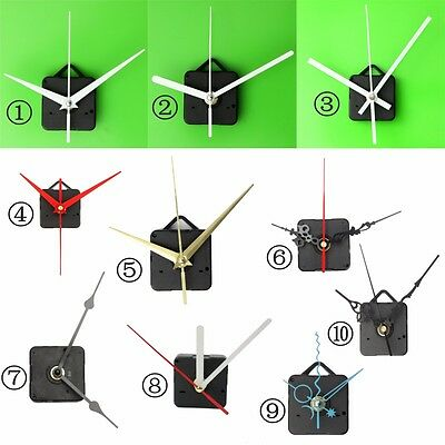 DIY Silent Quartz Wall Clock Movement Mechanism Hands Repair Tool Parts Kit Set