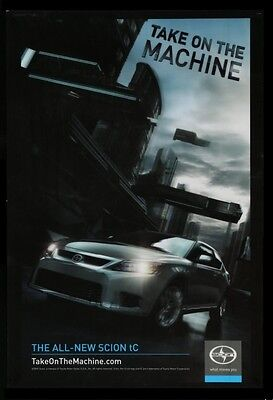 Original 2010 TOYOTA SCION tC 3D LENTICULAR TAKE ON THE MACHINE POSTER
