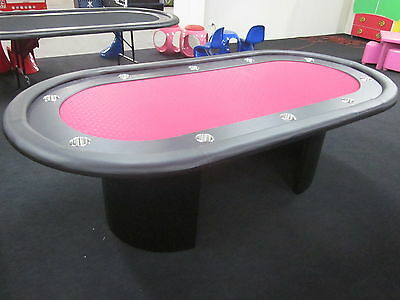 "Floor Stock 2Nds 96"" 8 Foot Pro  Poker Table With Speed Felt + Protective Cover"