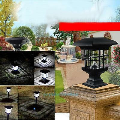 Solar Powered LED Yard Wall Fence Lawn Garden Landscape Path Outdoor Lamp Light
