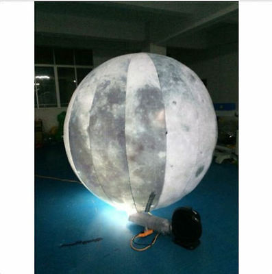 2M Led Lighted Inflatable Moon Ball for Outdoor Promotion new