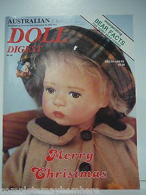 "Australian Doll Digest December 1991/ January 1992 No 36 ""Merry Christmas"""