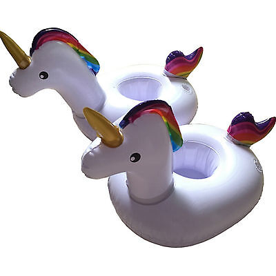 FLOATY Mini Inflatable Unicorn Cup  Floating Drink Holder in Magical Style Party