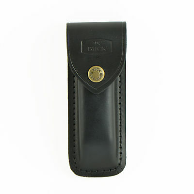 Buck Black Leather Replacement Sheath For Folding Hunter 110S