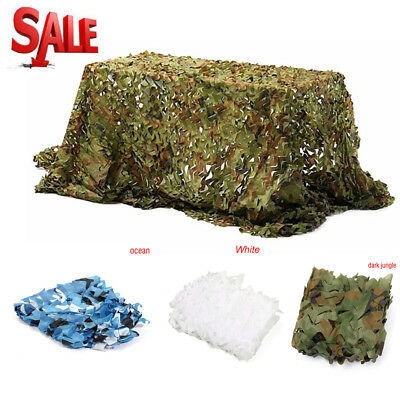 2X2M Woodland Shooting Hide Army Camouflage Net Hunting Cover Camo Netting